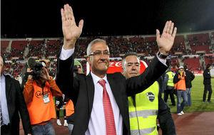 Gregorio Manzano celebra la clasificación del Mallorca a Europa...