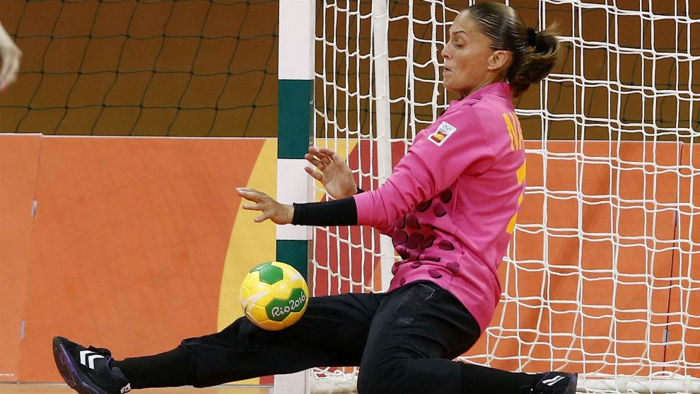 Silvia Navarro, en un partido durante los Juegos Olímpicos de Río.
