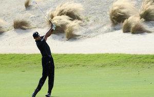 Tiger Woods en su reaparición en Bahamas