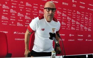 Jorge Sampaoli, antes de una rueda de prensa.