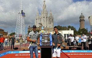 Nadal y Nishikori, en Montjuïc