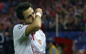 Pareja celebra el tanto que le hizo a la Juventus en la Champions.