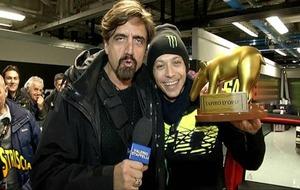 Rossi, con el premio