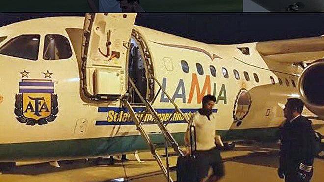 El avión de LaMia que llevó a Argentina hacia Brasil.