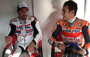 Fernando Alonso junto a Dani Pedrosa
