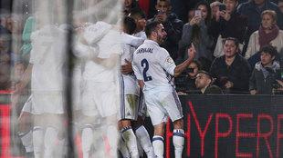 Así celebró Carvajal el gol de Ramos en el minuto 90