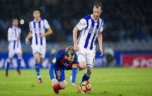 Zurutuza en el partido frente al Barcelona.