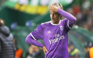 Coentrao, jugando en Lisboa contra el Sporting