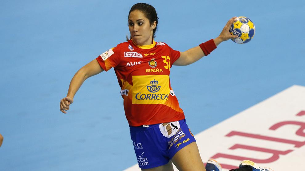 Mireya González durante un partido del TIE celebrado en Elda