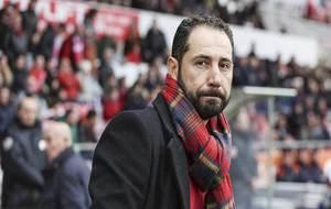 Pablo Machín, durante la victoria del Girona este domingo ante el...