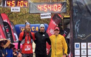 Jonsson, Hernando y Capell, en meta.