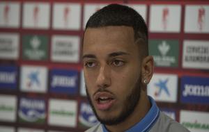El jugador del Granada en una rueda de prensa.