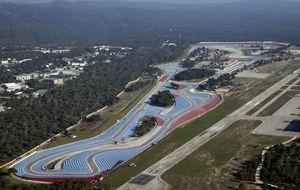 Aspecto que presenta el remodelado Circuito Paul Ricard, cerca de...