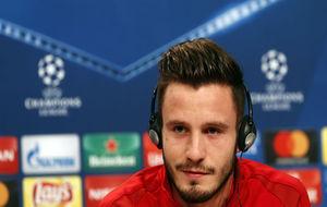 Saúl, durante la rueda de prensa previa al partido ante del Bayern.