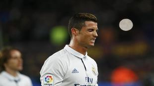 Cristiano Ronaldo durante un partido de Liga