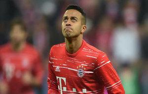 El centrocampista en un partido con su club, el Bayern de Munich.