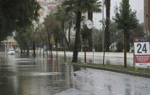 Una imagen de Málaga durante las inundaciones.