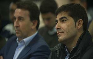 Haro y Catalán, en la sala de prensa.