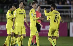 Algunos de los jugadores del Villarreal en un reciente partido.