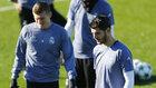 Morata y Kroos, en el entrenamiento.