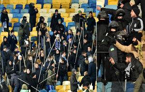 Problemas en la grada con los aficionados turcos y ucranianos.