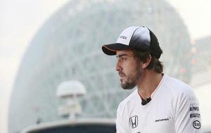 Fernando Alonso, durante el GP de Abu Dabi