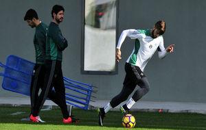 Piccini, en el entrenamiento en presencia de Víctor.