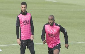 Foulquier en un entrenamiento del Granada.