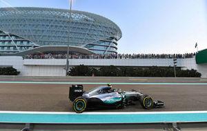 Nico Rosberg durante el GP de Abu Dabi