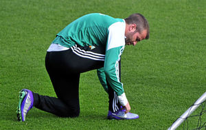 Van der Vaart, atándose las botas en su etapa en el Betis