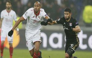 N'Zonzi ,en el partido contra el Olympique de Lyon