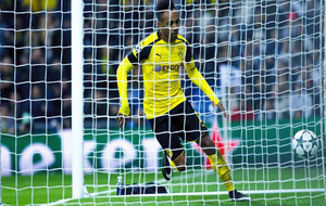 Aubameyang tras marcar en el Bernabéu