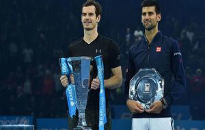 Murray y Djokovic, tras la final del Masters
