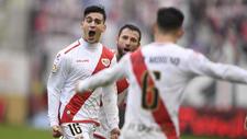 Cristaldo celebrando un gol contra el Alcorcón.