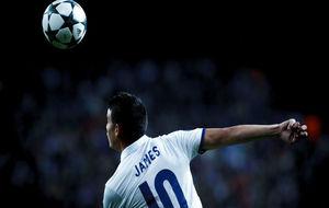 James, en el partido ante el Borussia Dortmund.