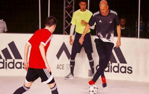 Zidane, durante el acto publicitario de este jueves