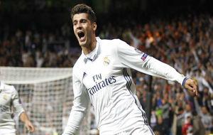 Morata celebra su gol ante el Sporting de Portugal