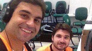 Fernando Brum Mattos, junto Rafael Agnolin, a la derecha, muerto en el...