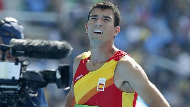 Mechaal, tras una carrera en los Juegos.