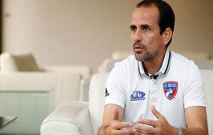 Óscar Pareja, en un momento de la entrevista concedida a MARCA.