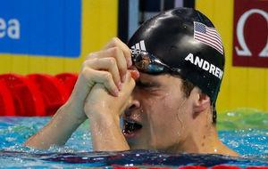 El estadounidense Michael Andrew, ganador de los 100 metros estilos.