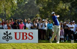 Rafa Cabrera Bello durante el UBS Hong Kong Open.