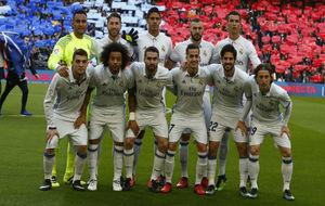 El once que formó de inicio en el Camp Nou