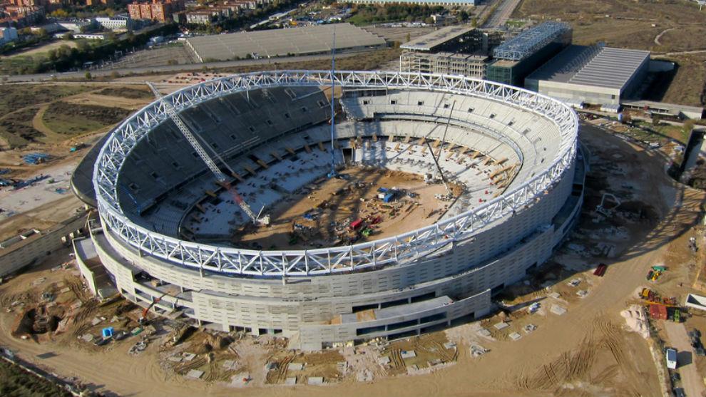 Panorámica aérea del estado de las obras del estadio