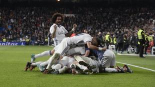 Sergio Ramos volvió a desatar la locura en el Bernabéu con otro gol...