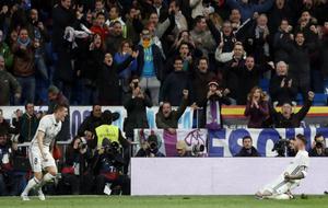 Kroos y Ramos celebran el gol.