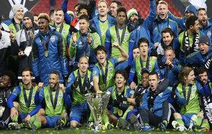 Los Sounders celebran su primer título en la MLS.