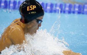 Jessica Vall durante los 100 braza en los pasados Juegos Olímpicos de...
