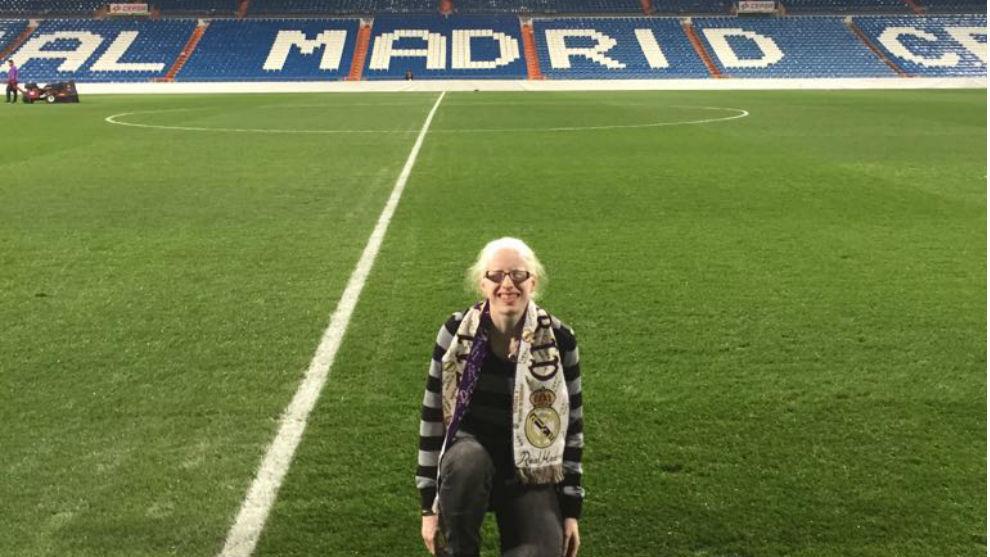 Susana Rodríguez en el Bernabéu