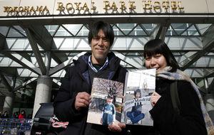 Yunia junto a su hija Madrid